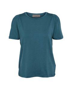 Let T-shirt med læg på skuldrene