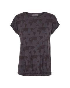 Bluse i lyocell med print