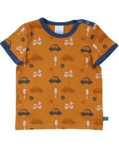 CITY kort-ærmet T-shirt med bil print