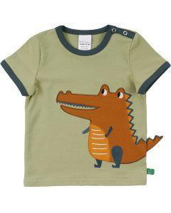 HELLO kort-ærmet T-shirt med en krokodille