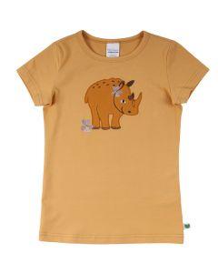 SAFARI kortærmet T-shirt med broderi