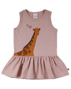 SAFARI top med skørt og giraf broderi