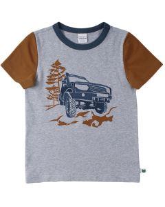 SAFARI T-shirt med broderi af en jeep