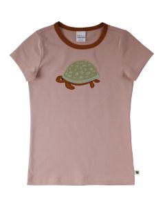 HELLO T-shirt med broderi af skildpadde