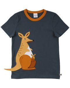 HELLO T-shirt med broderi af en kænguru