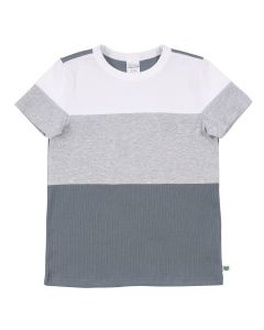 ALFA rib T-shirt med blok-farver