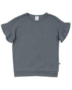 ALFA rib T-shirt med flæse ærmer
