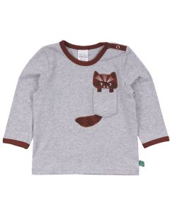HELLO raccoon bluse med lomme