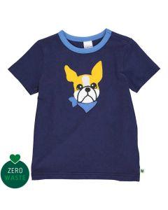 T-shirt med broderi af en hund