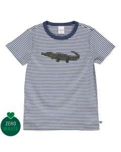 T-shirt med krokodille