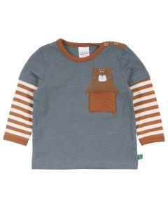 BEAR T-shirt med stribede ærmer -BABY