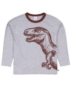 DINO langærmet bluse med dinosaur print