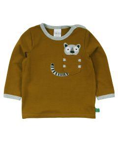 HELLO lemur T-shirt med brystlomme -BABY