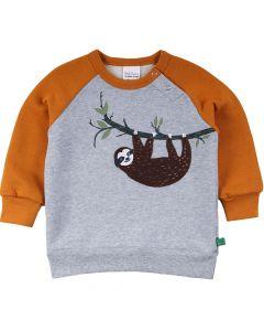 SLOTH sweatshirt med applikation af dovendyr
