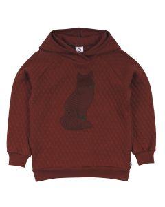 FOX quiltet sweat-trøje med hætte