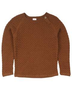 KNIT WEAVE sweat-trøje i økologisk bomuld