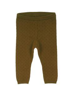 KNIT strik bukser i økologisk bomuld  -BABY