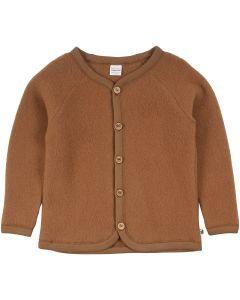 WOOL fleece jakke i merino uld