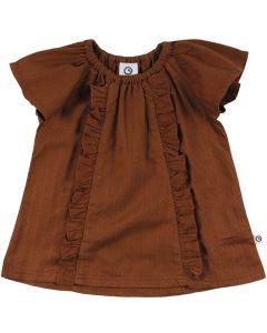 WOVEN kjole med flæser