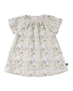 LEAF kjole til baby med print af blade