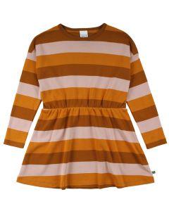 STRIPE kjole i økologisk bomuld
