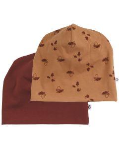 ACORN beanie / hat 2-pak -BABY