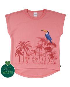 T-shirt med palmer og fugl